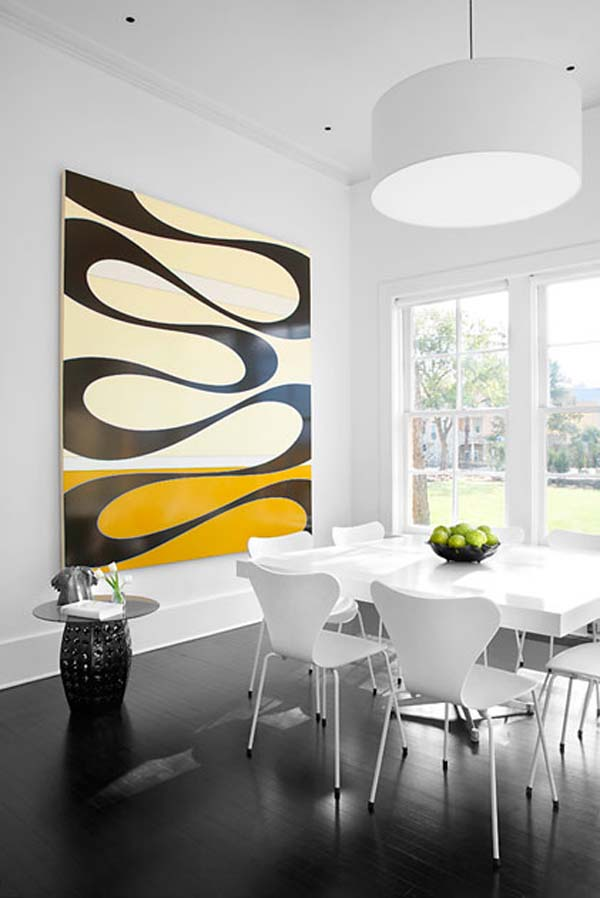 Contemporary Wall Art Dining Room Vintage Mid Century Modern