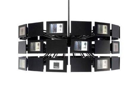 Unique Hanging Lights + Digital Photo Frames