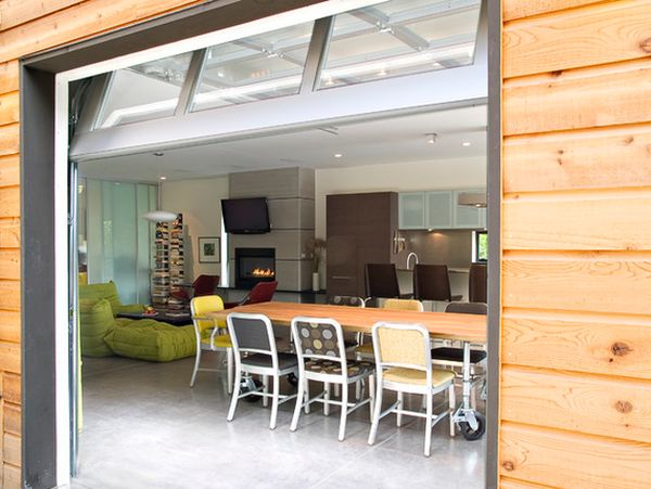How to transform the garage into a living space for Living room garage