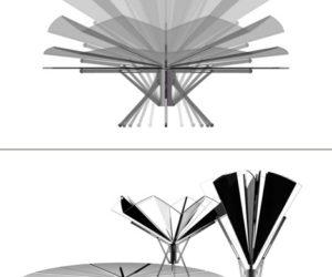 Practical Umbrella Table by Caspar Schmitz