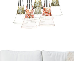 Champagne Glass Lamps by Moise