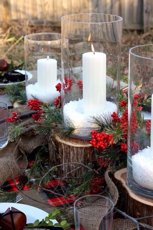 Ordinary Winter Home Decorating Ideas Part - 7: Use Glass Containers For The Decorations.