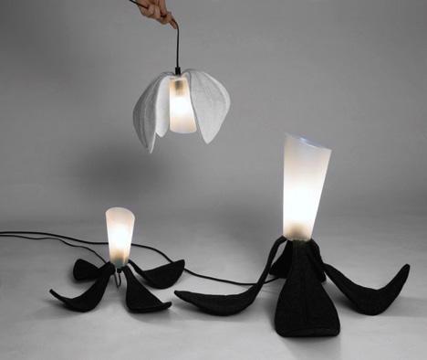 Foldable Flower Home Lighting Fixtures
