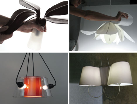 Foldable Flower Home Lighting Fixtures Great Ideas