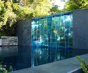 Modern Outdoor Glass Art by SWON Design