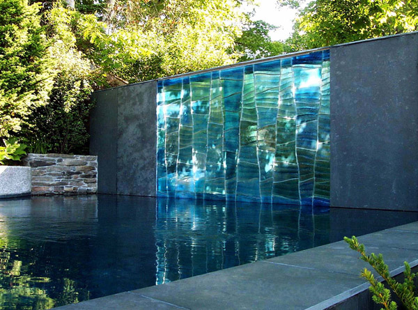 View in gallery & Modern Outdoor Glass Art by SWON Design