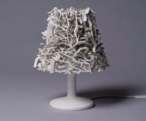 A Beautiful Snow dust Lampshade by Olga Kravchenko
