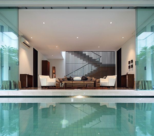 Static house in jakarta by tws partners for Indoor swimming pool in jakarta