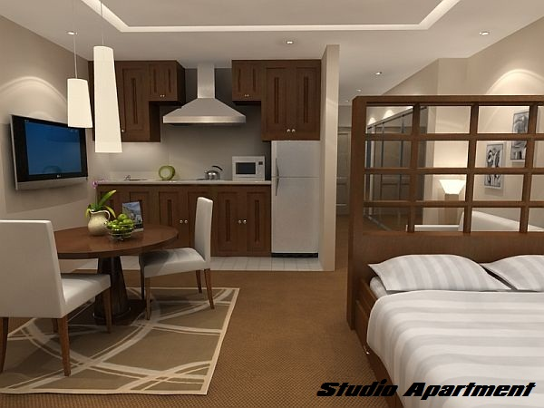 Studio Apartment Living.  Difference between studio apartment and one bedroom