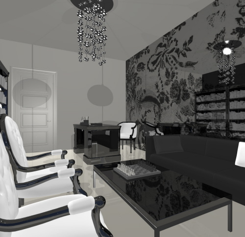 Black And White Interior Design Concepts By Milla Rezanova