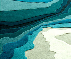 Water Waves Carpet by Edward Fields