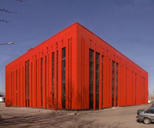 Bar code Building in Sankt Petersburg, Russia