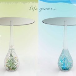 Lovely Elegant Crystal Coffee Table By Cindy Karimun