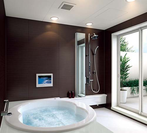 Simple and modern bathroom designs by toto for Modern bathroom design small