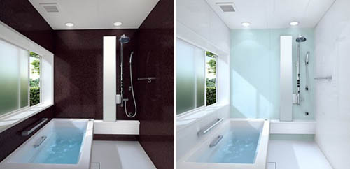 Simple and modern bathroom designs by toto Simple shower designs