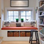 Stylish Seating Arrangements With Built-In Bookcases