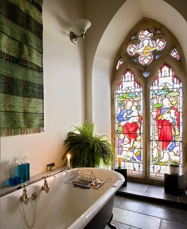 4 churches turned into beautiful homes for Salle de bain de reve