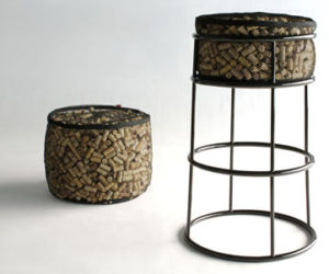 Barstool Made of Recycled Corks from Phase Design