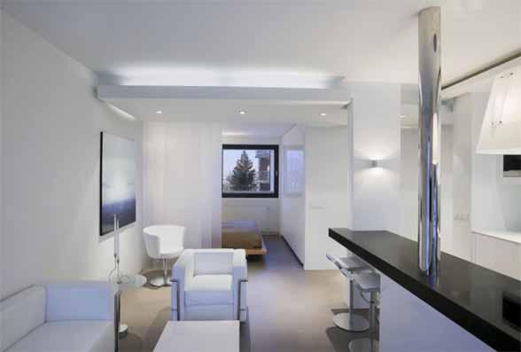 White Apartment Interior Design By Gudmundur Jonsson