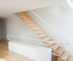 Built in Staircase in Minimalist House in Portugal