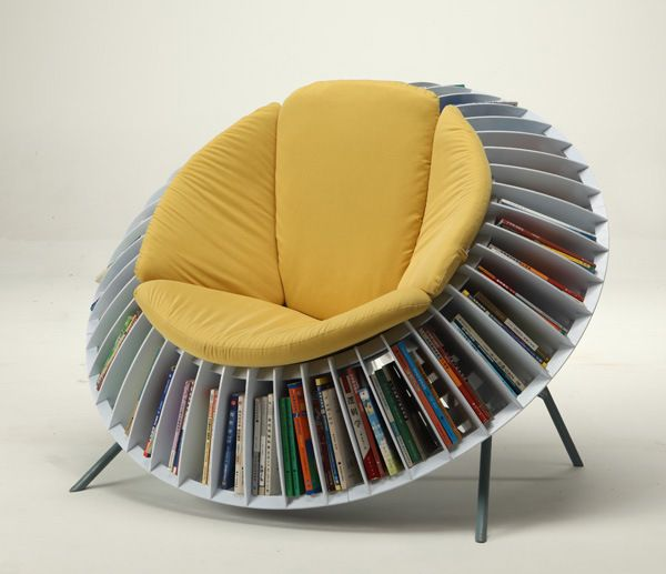 Sunflower bookcase seating