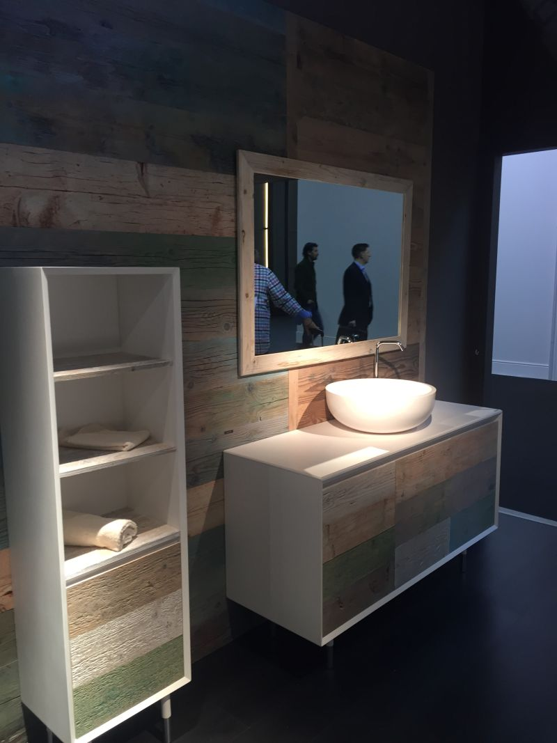 Wood washed bathroom furniture