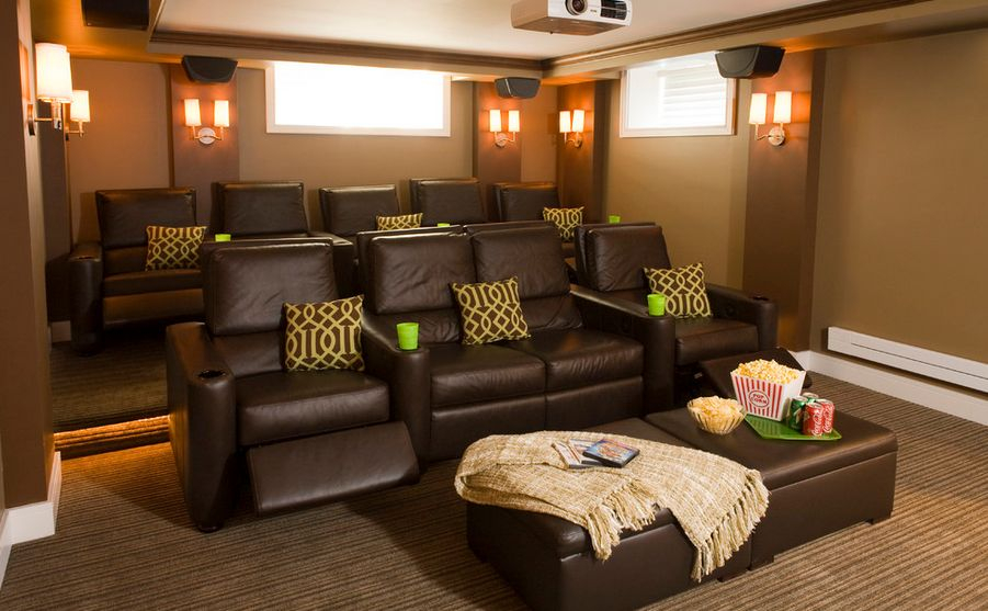 Superb Media Room Furniture Ideas Part - 3: Home Decorating Trends U2013 Homedit
