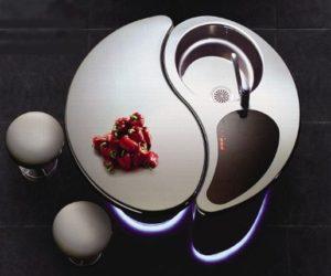 Modern Space Saving Kitchen Unit by Toyo Kitchen
