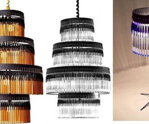 Bic Pens Table Lamps, Chandeliers by Studio Empieza