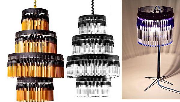 Bic Pens Table Lamps, Chandeliers By Studio Empieza