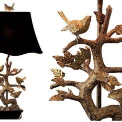 Charming Elegant Brass Bird Table Lamp