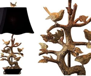 Elegant Brass Bird Table Lamp