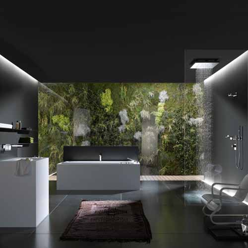 Relaxing Nature Bathroom Design in Black and White on nature architecture, nature kitchen, nature wall designs, nature paint designs, nature inspired design, nature decor, nature bedroom, nature room, nature tile designs, natural stone shower designs, nature doors, nature wood burning designs, nature office design, nature fabrics, nature art, nature baths, nature house designs, nature jewelry designs, nature fence designs,