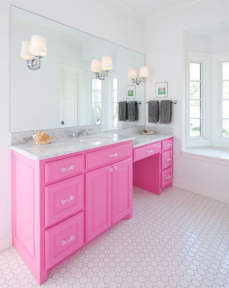 pink furniture - Pink Bathroom Themes