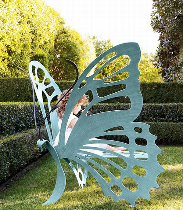 wonderful butterfly bench. Black Bedroom Furniture Sets. Home Design Ideas