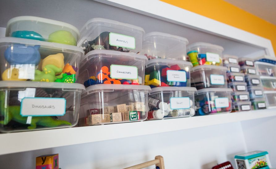 Solutions For Storing The Toys In The Kids Playroom