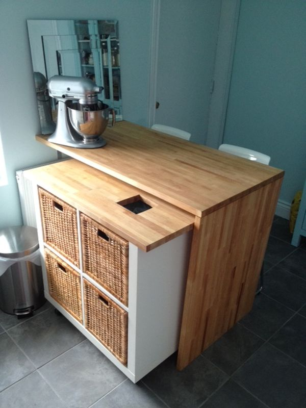 Rolling Kitchen Island.