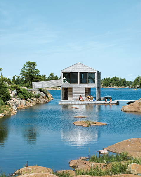 Captivating Definitely, It Will Look Like An Endless Holiday. This Is The Atmosphere  Created By The Floating House Designed By Michael Meredith Of Toronto Based  MOS. Nice Ideas