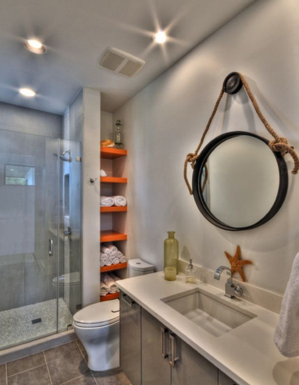 hidden shelves - Bathroom Towel Storage