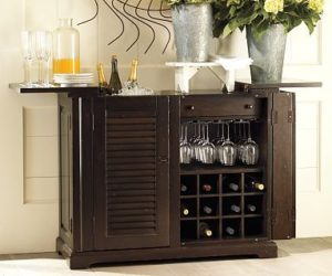 Exceptional Traditional Mobile Bar Cart · Randolph Wooden Bar