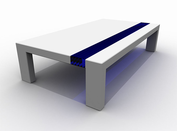 Futuristic Corian Tables by Stuart Melrose : lglacierbrown from www.homedit.com size 600 x 445 jpeg 30kB