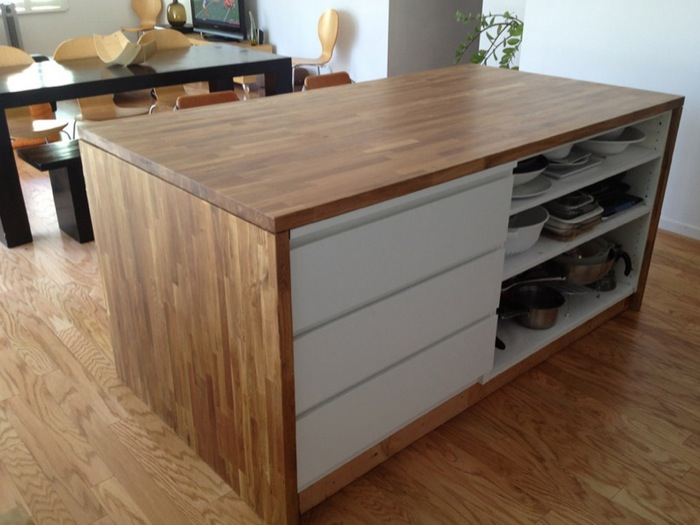 Diy Kitchen Island Using Ikea Cabinets