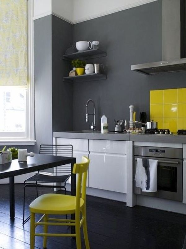 excellent white kitchen yellow accents | How To Decorate The Kitchen Using Yellow Accents