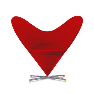 Valentine Heart Cone Chair By Verner Panton