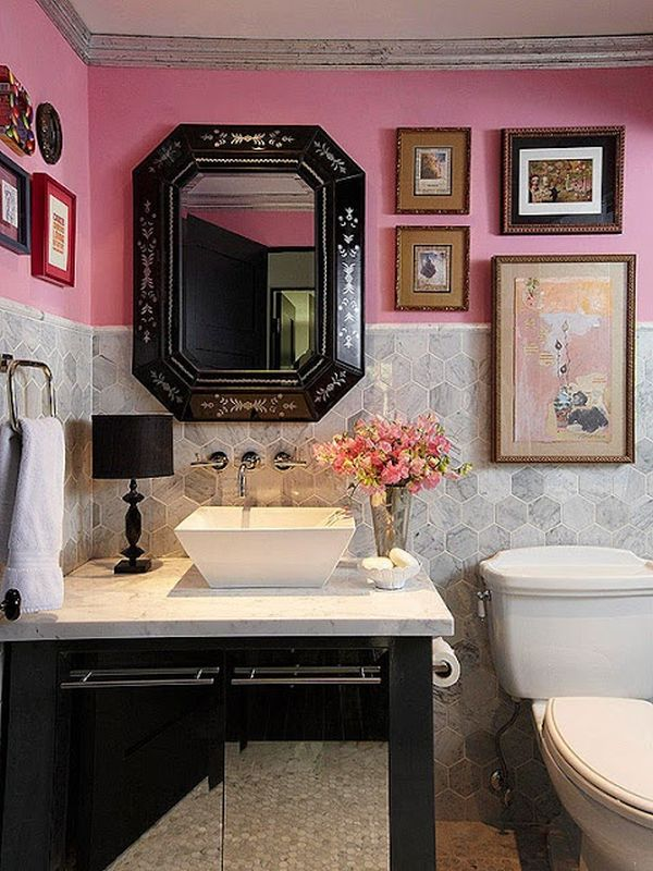 how to decorate a pink bathroom - Pink Bathroom Themes