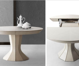 Expandable Round Dining Table by Skovby