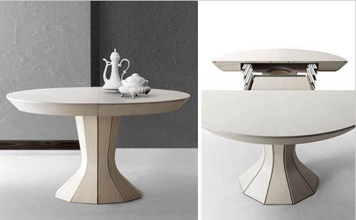 Opera  A Round Expandable Modern Dining Table By Bauline