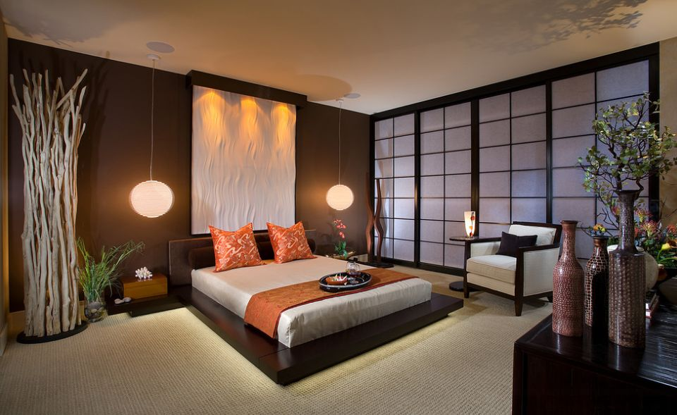 asian modern bedroom
