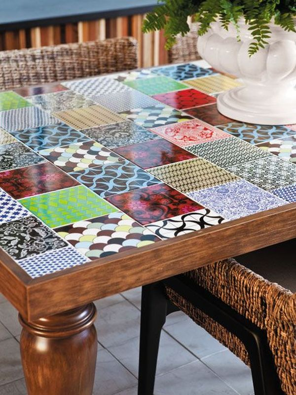 how to make your own tile table. Black Bedroom Furniture Sets. Home Design Ideas