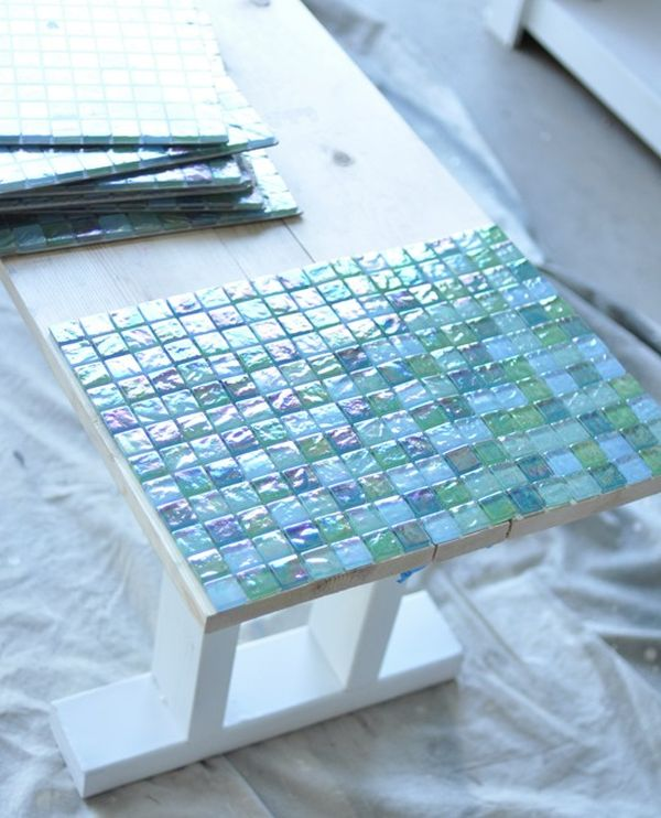 View In Gallery. Make A Mosaic Tile Table ...